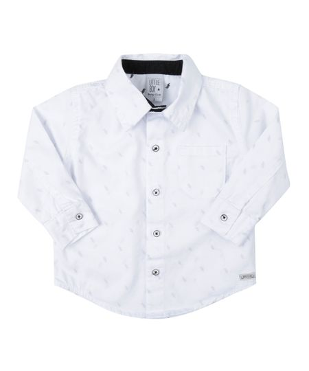 Camisa Estampada Branca
