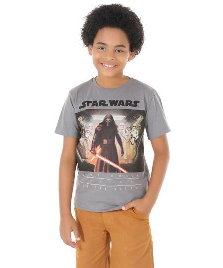 Camiseta Star Wars Cinza