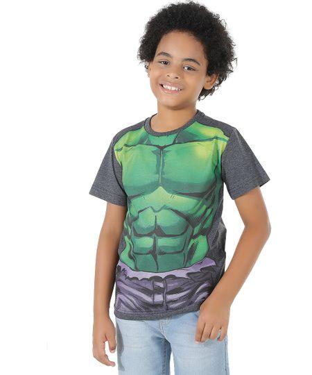 Camsiseta Hulk Cinza Mescla Escuro
