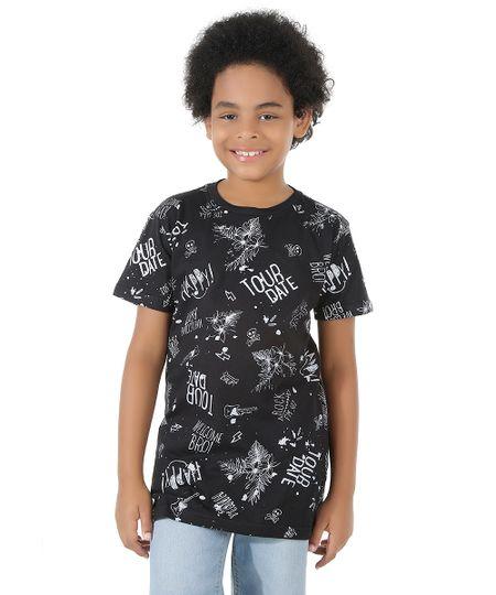 Camiseta Longa Estampada