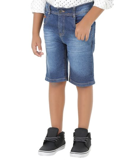 Bermuda Jeans Azul Médio