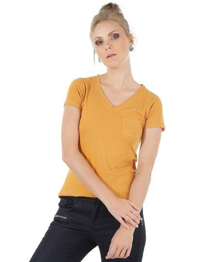 Blusa Básica Amarelo Escuro