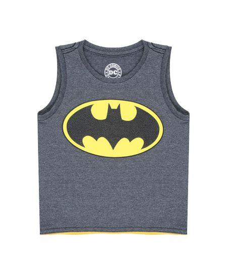 Regata Batman Cinza Mescla Escuro