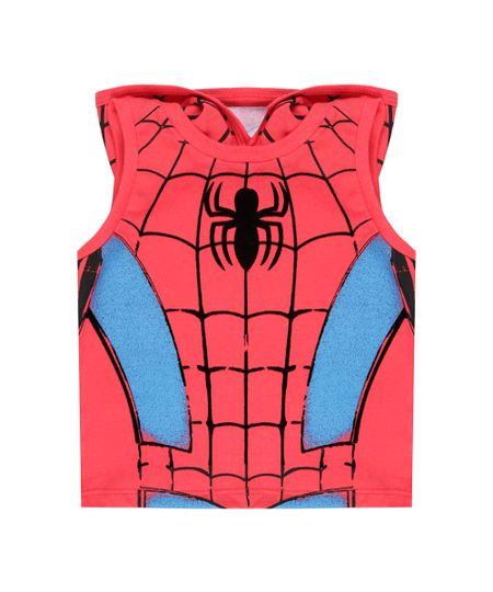 Regata Homem Aranha com Capuz Vermelha