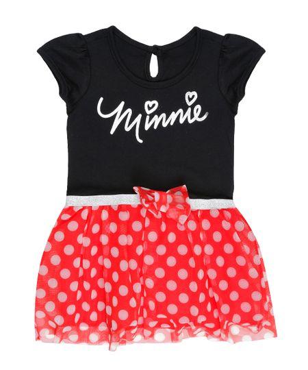 Vestido Fantasia Minnie Preto