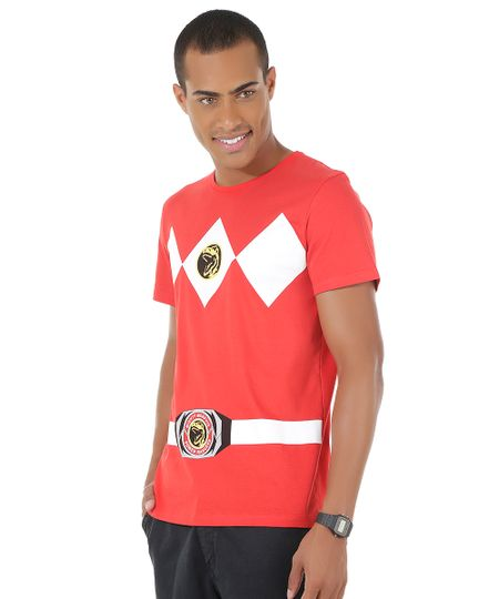 Camiseta Power Ranger Vermelha