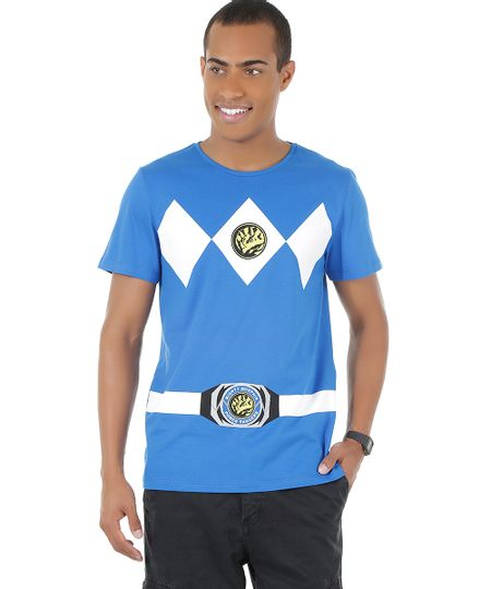 Camiseta Power Ranger Azul