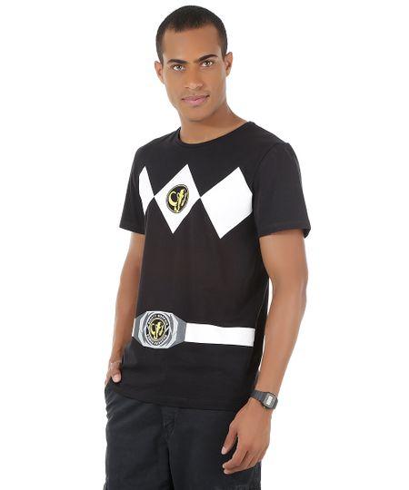 Camiseta Power Ranger Preta