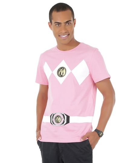 Camiseta Power Ranger Rosa