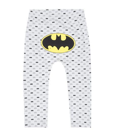 Calça Estampada Batman em Algodão + Sustentável Cinza Claro
