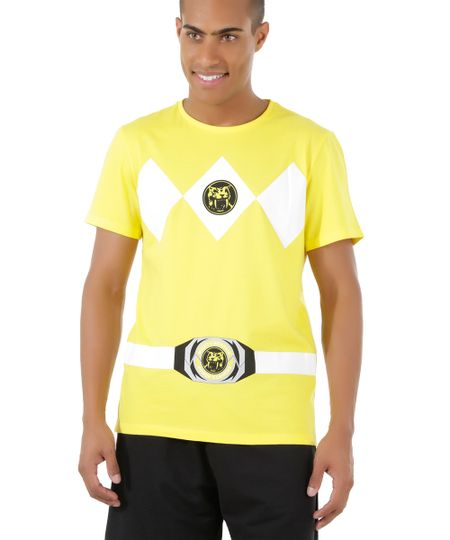 Camiseta Power Ranger Amarela
