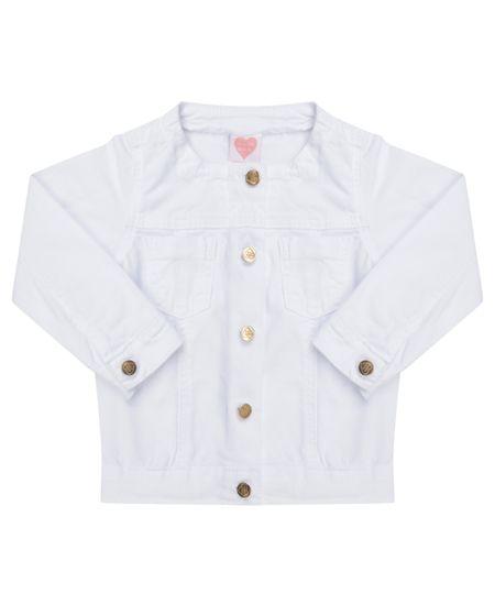 Jaqueta com Bolsos Branca