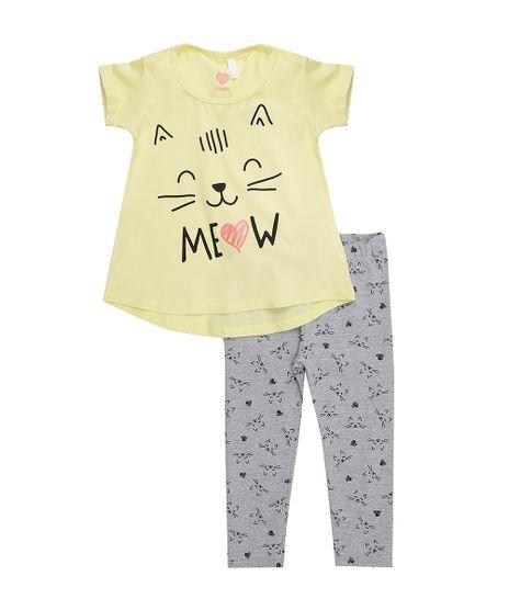 Conjunto-de-Blusa-Amarela---Calca-Legging-Cinza-Mescla-8557015-Cinza_Mescla_1