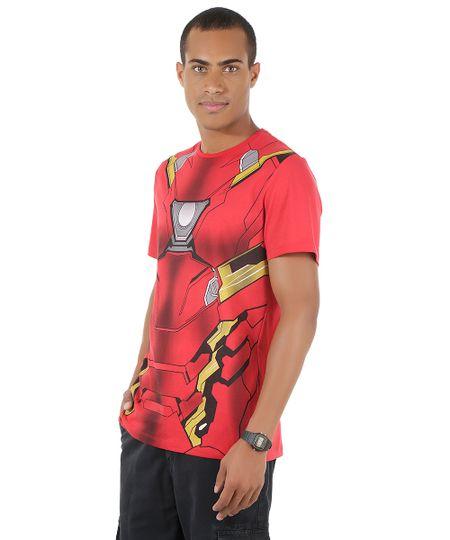 Camiseta Homem de Ferro Vermelha