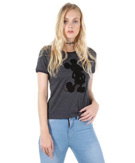 Blusa Mickey Cinza Mescla Escuro