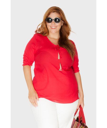 Bata Vermelho Verão Plus Size