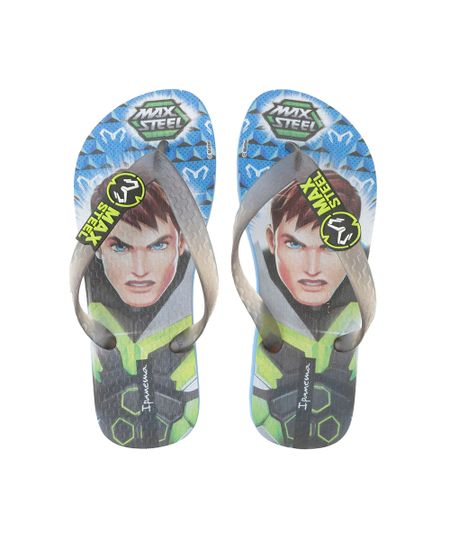 Chinelo Ipanema Max Steel Azul