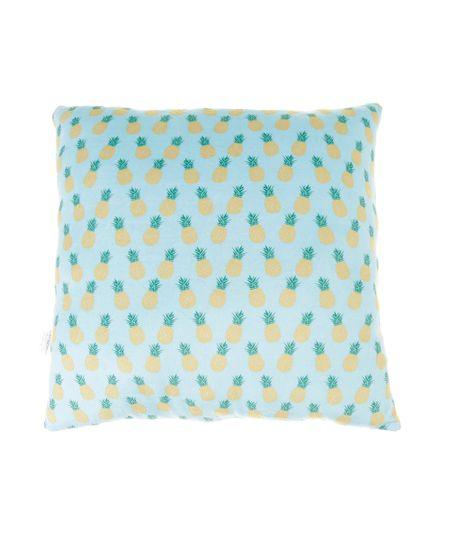 Almofada Estampada de Abacaxi Azul Claro