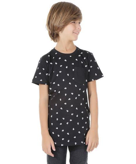Camiseta-Longa-Estampada-de-Caveira-Preta-8573520-Preto_1