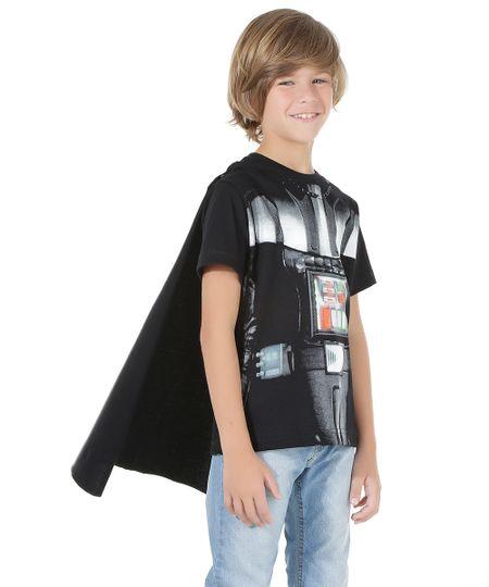 Camiseta Darth Vader com Capa Preta