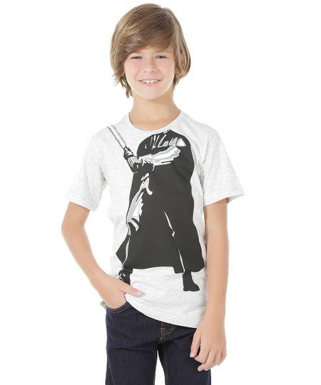 Camiseta Darth Vader Cinza Mescla