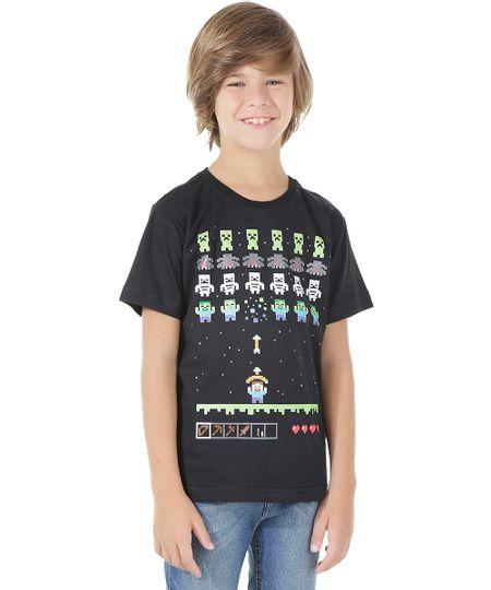 Camiseta Minecraft Preta