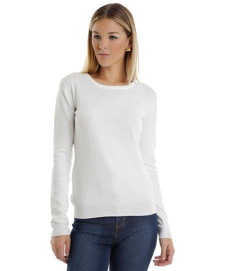 Suéter em Tricô Branco