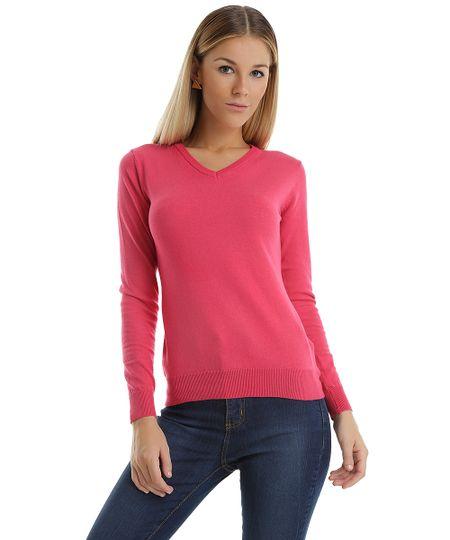 Suéter em Tricô Pink