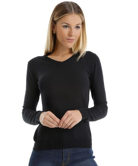 Suéter em Tricô Preto