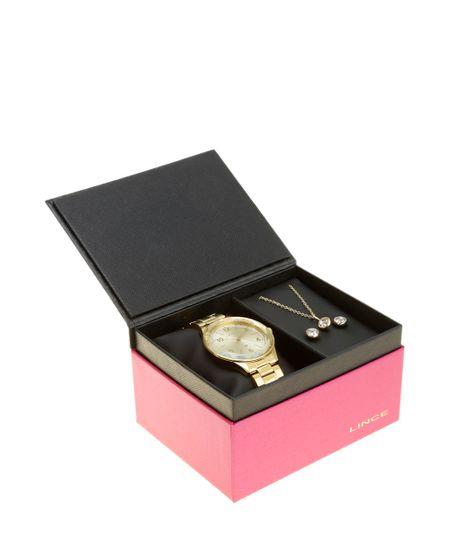 Kit de Relógio Condor Feminino Analógico + Colar + Brinco - LRG4344L K983C2KX Dourado