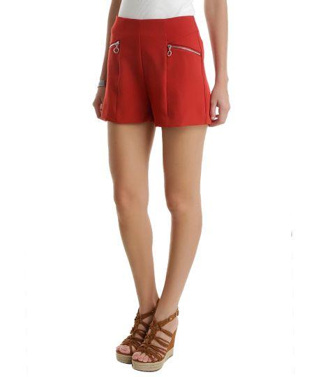 Short Hot Pant Vermelho