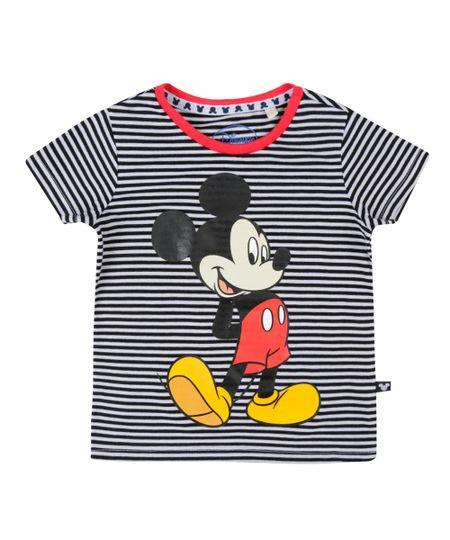 Camiseta Estampada Mickey Branca