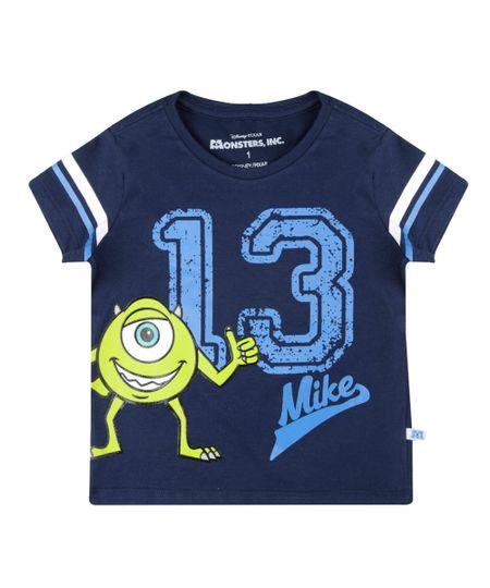 Camiseta Monstros S.A. Azul Marinho