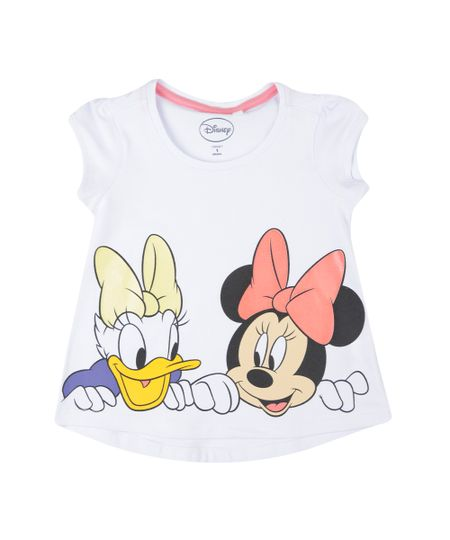 Blusa Minnie e Margarida Branca