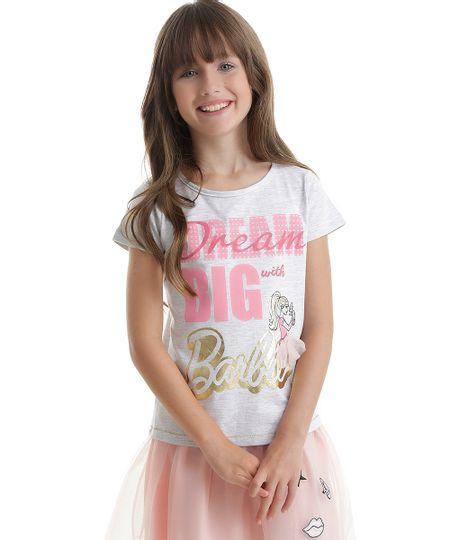 Blusa Barbie Cinza Mescla