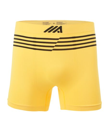 Cueca Boxer Ace Sem Costura Amarela