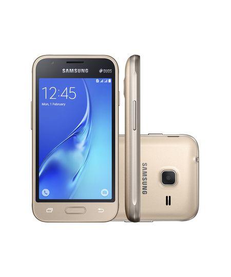 Celular Smartphone Samsung Galaxy J1 Duos J105b 8gb Dourado Oi - Dual Chip