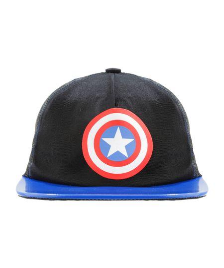 Boné Capitão América Preto