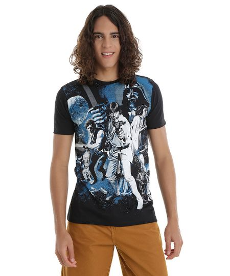 Camiseta Star Wars Preta