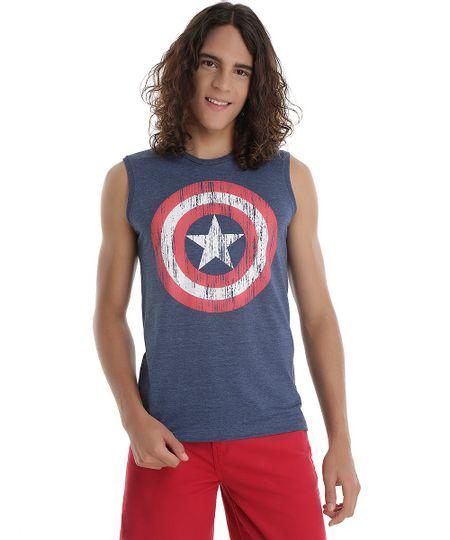 Regata Capitão América Azul Marinho