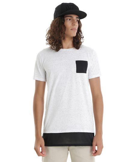 Camiseta Longa Botonê Cinza Mescla