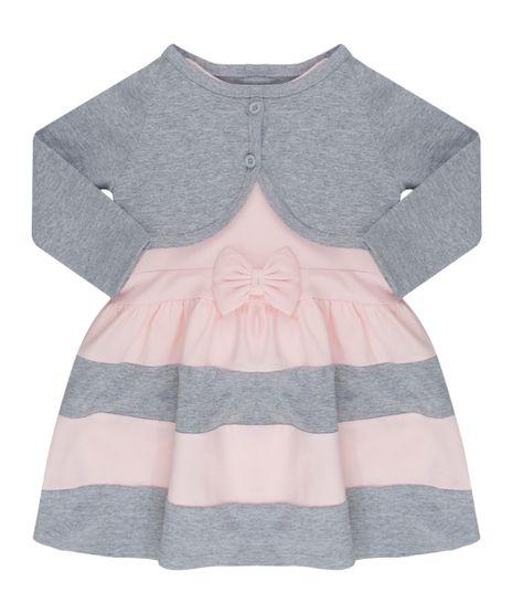 Conjunto-de-Vestido-Rosa-Claro---Bolero-Cinza-Mescla-8563956-Cinza_Mescla_1