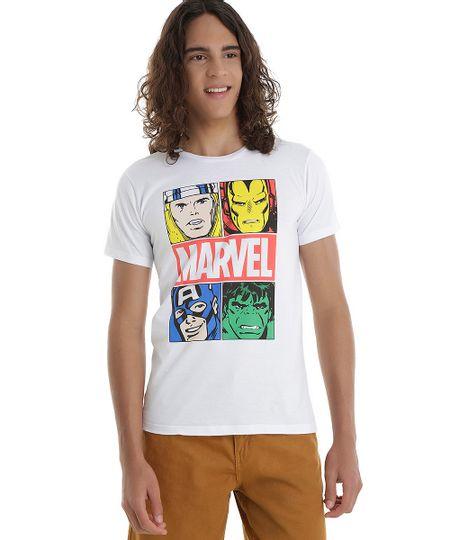 Camiseta Os Vingadores Branca