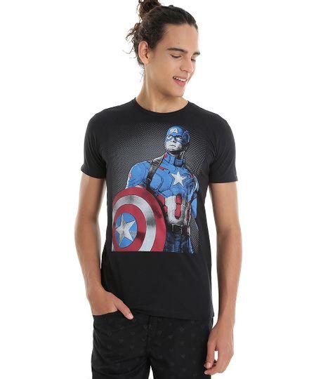 Camiseta Capitão América Preta