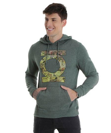 Blusão em Moletom Lanterna Verde Verde