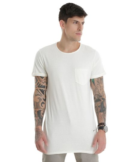Camiseta Longa Off White