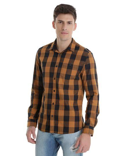 Camisa Xadrez Caramelo