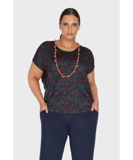 Blusa Outono Estampada Plus Size