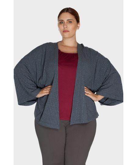 Casaco Canelado Plus Size