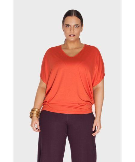 Blusa V Plus Size